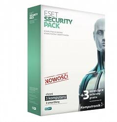 ESET Security Pack BOX 3-desktop 12 m-cy+ 3-smartf